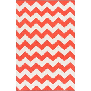 Artistic Weavers Flatweave Poole Chevron Wool Rug (8' x 10')