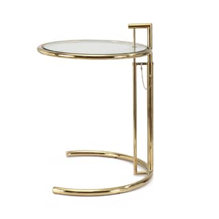 Dodici Side Table In Gold With Glass Top