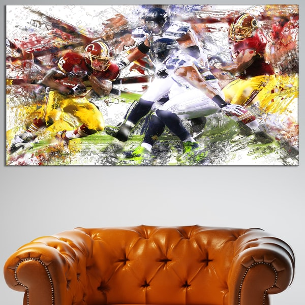 Design Art 'Football Possession' Canvas Art Print