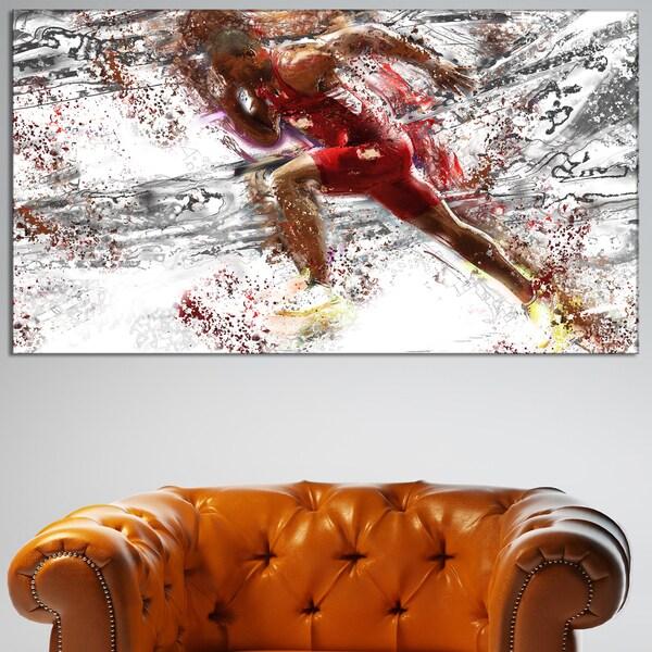 Design Art 'Track Team Sprinting' Canvas Art Print