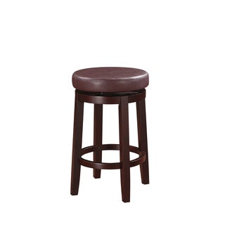 Linon Sloane Dark Red Counter Stool