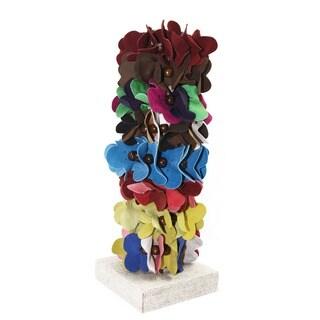 Leather Flower Pony Tail Bracelet (Colombia)
