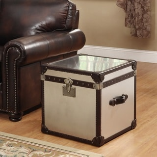Lazzaro Leather General Flip Top Leather End Table