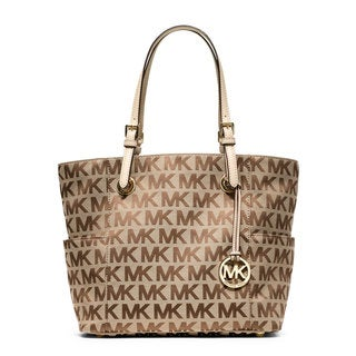 MICHAEL Michael Kors Signature East/West Beige Tote