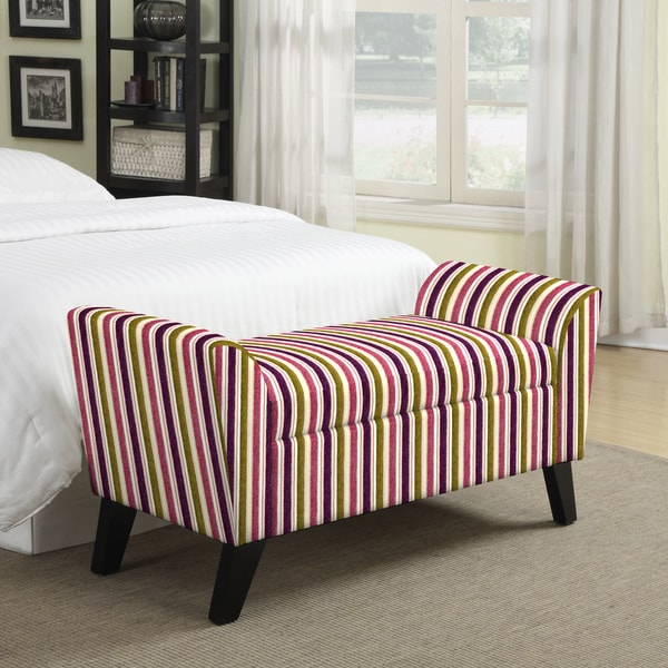 Better Living Finsbury Purple and Green Stripe Storage Bench
