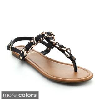 BETANI AMANDA-31 Women's Comfty Strappy T-strap Sandals