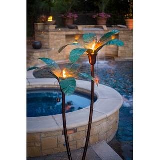 Desert Steel Large Asher Palm Garden Torch