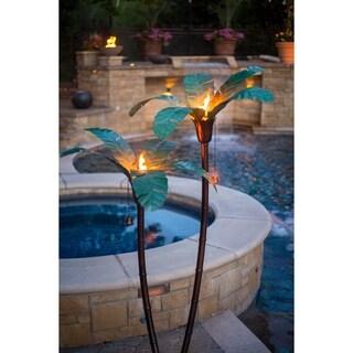 Desert Steel Small Asher Palm Garden Torch