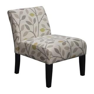 Somette Armless Slipper Beige Leaf Chair