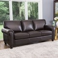 ABBYSON LIVING London Premium Top-grain Leather Sofa