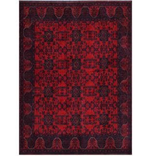 Herat Oriental Afghan Hand-knotted Tribal Khal Mohammadi Red/ Black Wool Rug (5'9 x 7'8)