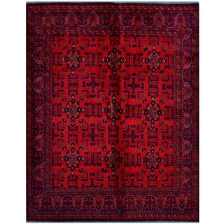 Herat Oriental Afghan Hand-knotted Tribal Khal Mohammadi Red/ Burgundy Wool Rug (6' x 7'5)