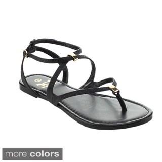 BETANI AMANDA-22 Women's Casual Roman Gladiator Flat Sandals