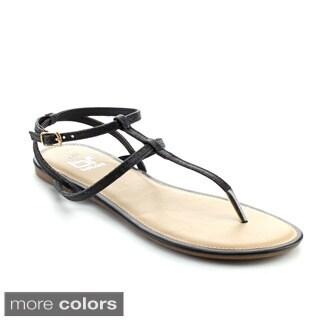 BETANI AMANDA-23 Women's Dress T-strap Flat Sandals