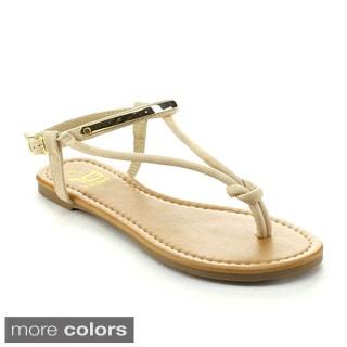 BETANI AMANDA-24 Women's Sweet Braided Thong Flat Sandals