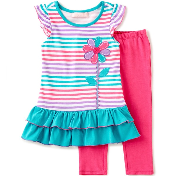 KHQ Infant Girl 2-piece Pink Knit Capri Set