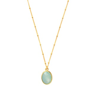 Alchemy Jewelry Gold Overlay Peru Chalcedony Gemstone Small Knot Necklace