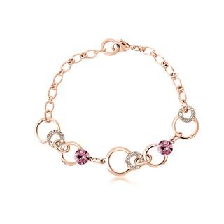 Alchemy Jewelry Rose Goldplated Cubic Zirconia Link Bracelet