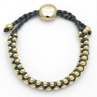Alchemy Jewelry Blue Grey Beaded Woven Bracelet