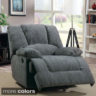 Furniture of America Kuito Wide Chenille Recliner