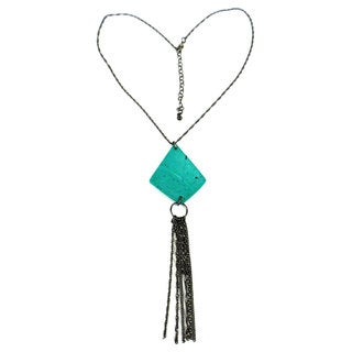 Tassel Me Teal Necklace - Mata Traders (India)