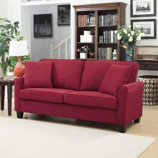Portfolio SoFast Mara Red Microsuede Sofa