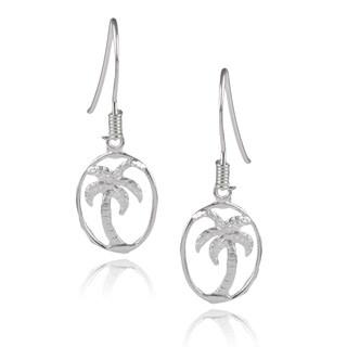 Journee Collection Sterling Silver Palm Tree Dangle Earrings