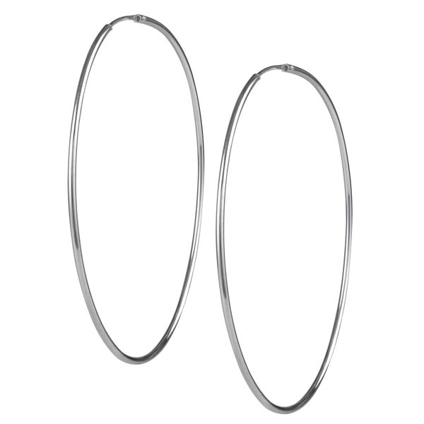 Journee Collection Sterling Silver 65mm Hoop Earrings