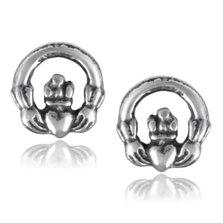 Journee Collection Sterling Silver Claddagh Stud Earrings