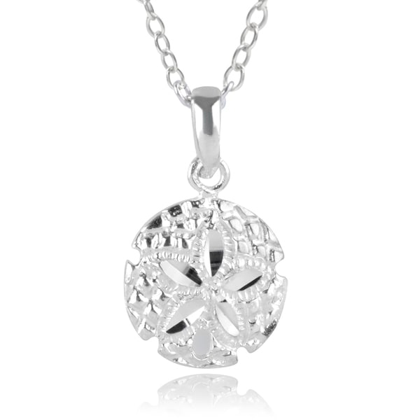 Journee Collection Sterling Silver Sand Dollar Pendant