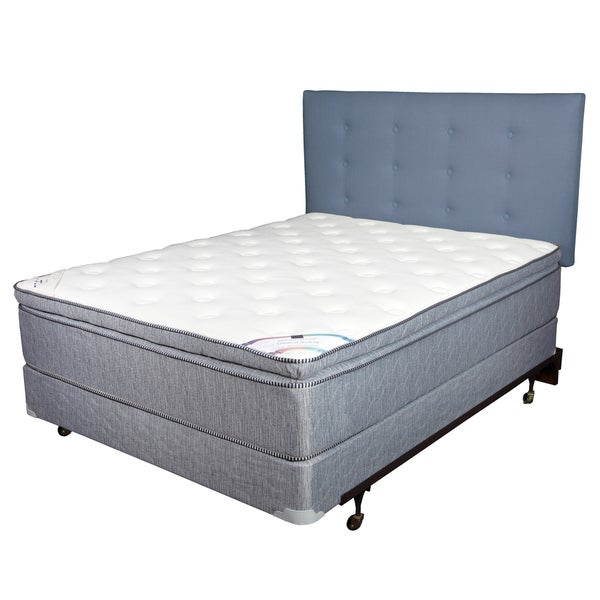 Diamond Gel Foam Pillow Top 12-inch Twin-size Mattress and Foundation Set