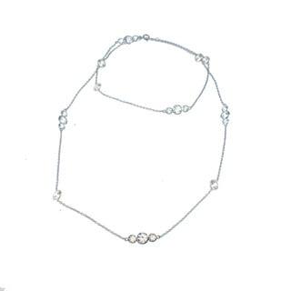 Michael Valitutti Two-tone Palladium Silver 14k Yellow Gold Necklace
