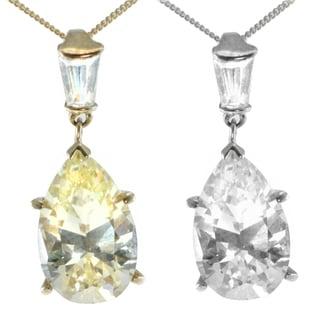 Michael Valitutti 14k Gold Cubic Zirconia Pear Dangle Necklace
