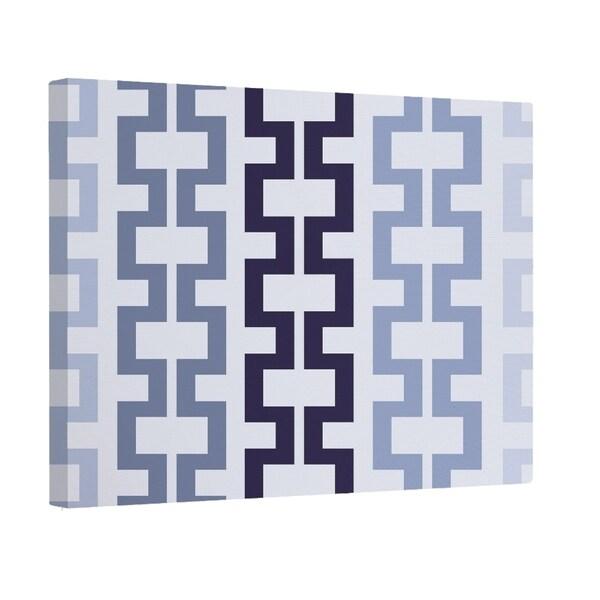 E by Design Navy Blue/ Green/ Pink/ Purple Geometric Print Wall Art (20 x 24)