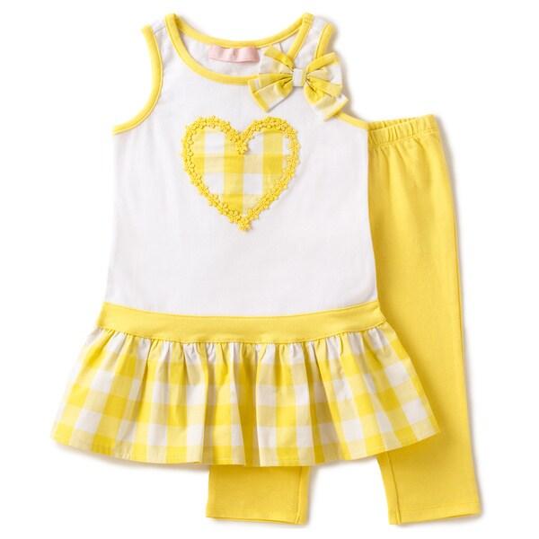 KHQ 4-6X Girl 2-piece White Knit Capri Set