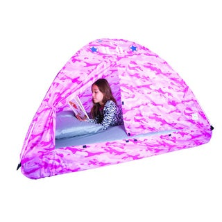 Pacific Play Tents Pink Camo Bed Tent-77 IN x 38 IN x 35 IN