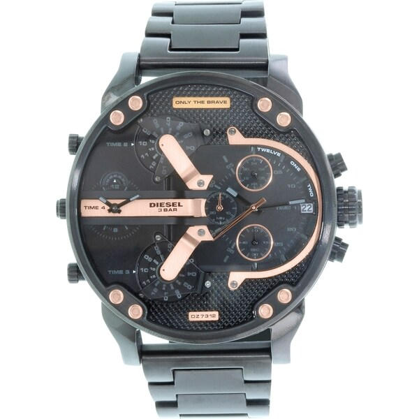 Diesel Men's DZ7312 'Mr. Daddy 2.0' Chronograph Black Stainless Steel Watch