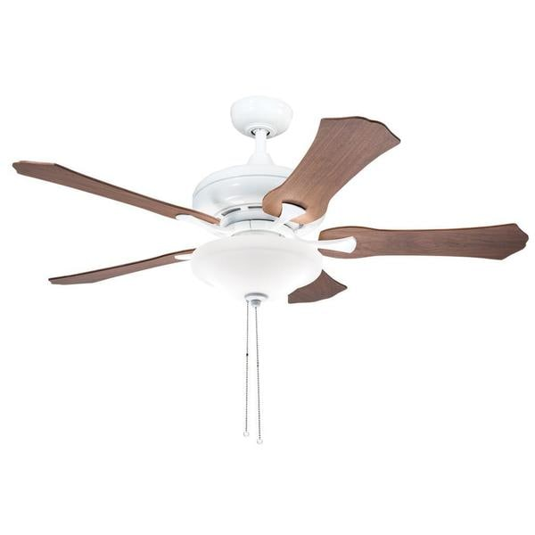 kichler lighting transitional white 52 inch ceiling fan with 2 light. Black Bedroom Furniture Sets. Home Design Ideas