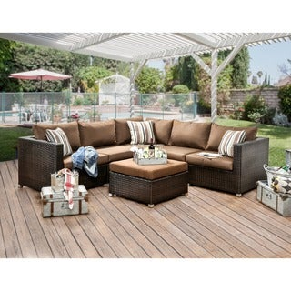 Furniture of America Stella 2-Piece Outdoor Sectional Set