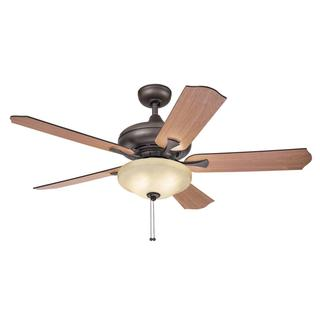 Kichler Lighting Traditional Bronze Ceiling Fan with 2-light Kit and Reversable Blades