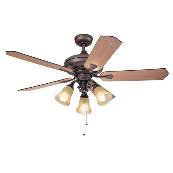 Kichler Lighting Traditional Bronze 52 Inch Ceiling Fan