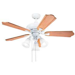 Kichler Lighting Casual White 52 inch Ceiling Fan with 3-light Kit and Carved Wood Blades
