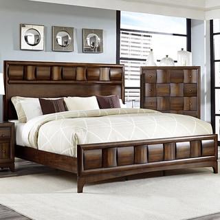 Darian Classic Medium Walnut Platform Bed