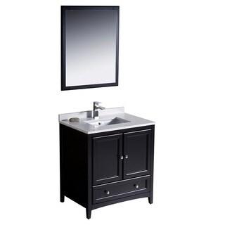 Fresca Oxford 30-inch Espresso Traditional Bathroom Vanity