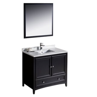 Fresca Oxford 36-inch Espresso Traditional Bathroom Vanity