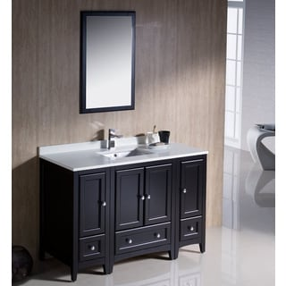 Fresca Oxford 48-inch Espresso Traditional Bathroom Vanity with 2 Side Cabinets