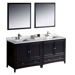 Fresca Oxford 72-inch Espresso Traditional Double Sink Bathroom Vanity