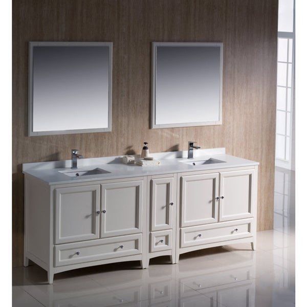 fresca oxford 84 inch mahogany traditional double sink bathroom vanity