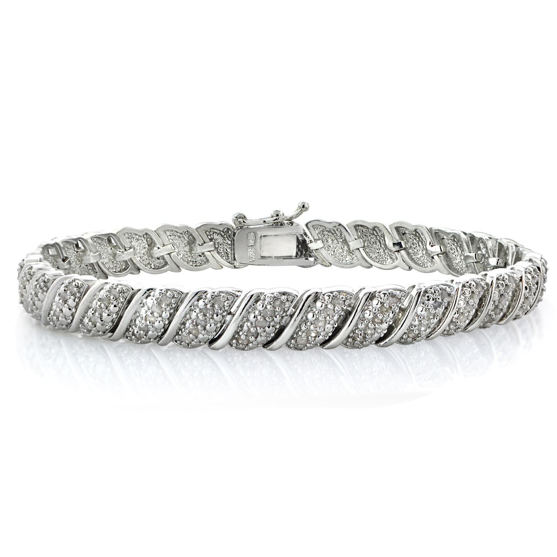 DB Designs 1ct TDW Diamond Fancy Tennis Bracelet (I-J I2-I3)