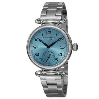 Akribos XXIV Women's Japanese Quartz Multifunction Stainless Steel Bracelet Watch